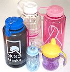 Assortment of BPA-based containers for liquid